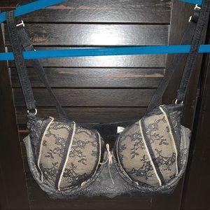 34DD DKNY balconette lace bra